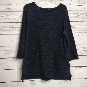 Eileen Fisher 3/4 Sleeve Oversized Sweater Top